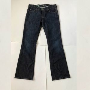 7 For All Mankind Dark Organic Cotton Boot Jeans